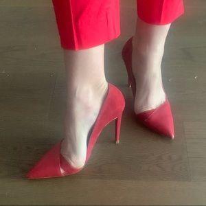 Zara pointed red stiletto heels